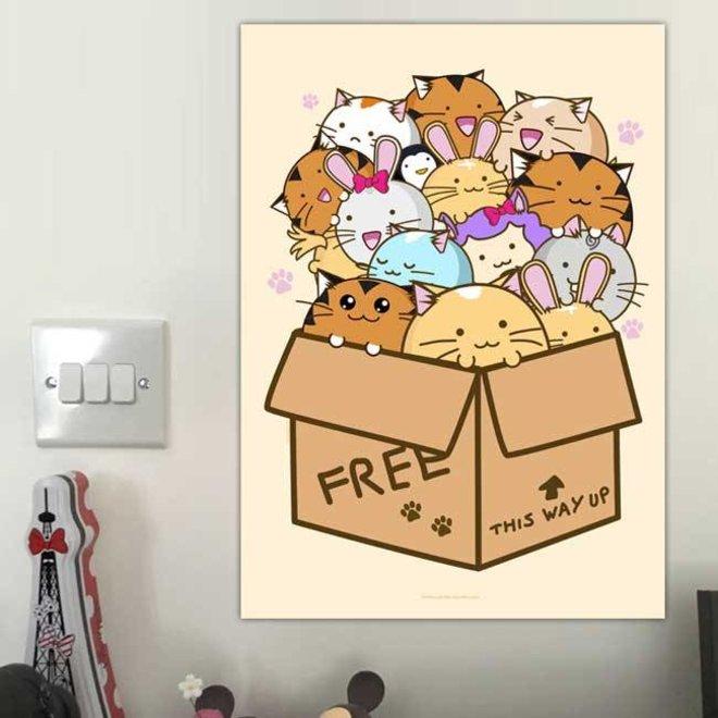 Print A4 - Box Of Fuzzballs