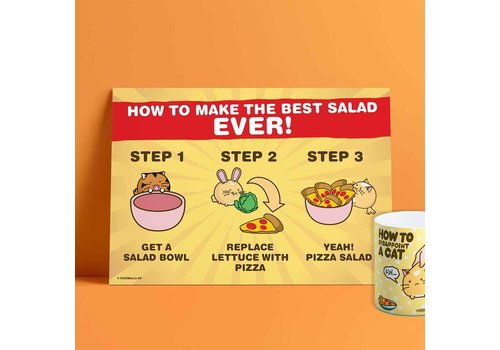 Fuzzballs Print A4 - How To Make The Best Salad Ever
