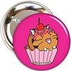Fuzzballs Fuzzballs Button - Tiger cupcake