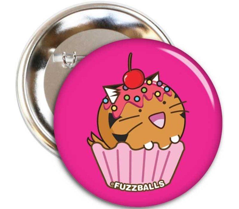 Fuzzballs Badge - Tiger cupcake