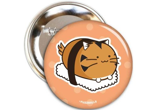 Fuzzballs Button - Tiger sushi