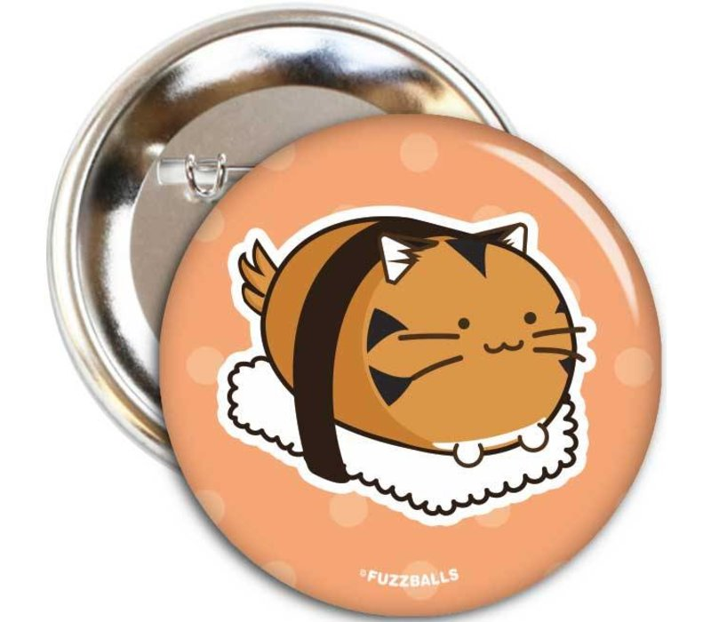 Fuzzballs Badge - Tiger sushi