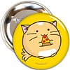 Fuzzballs Fuzzballs Badge - Pizza cat