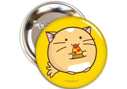 Fuzzballs Button - Pizza cat