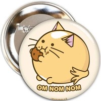 Fuzzballs Badge - Cookie cat