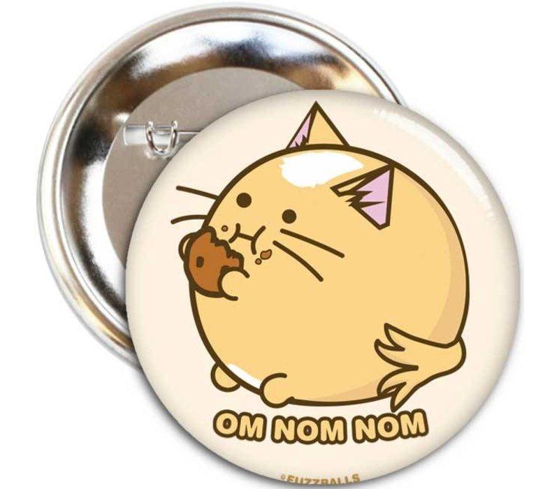 Fuzzballs Button - Cookie cat