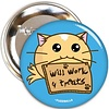 Fuzzballs Fuzzballs Badge - Will work for treats