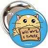 Fuzzballs Fuzzballs Button - Will work for treats