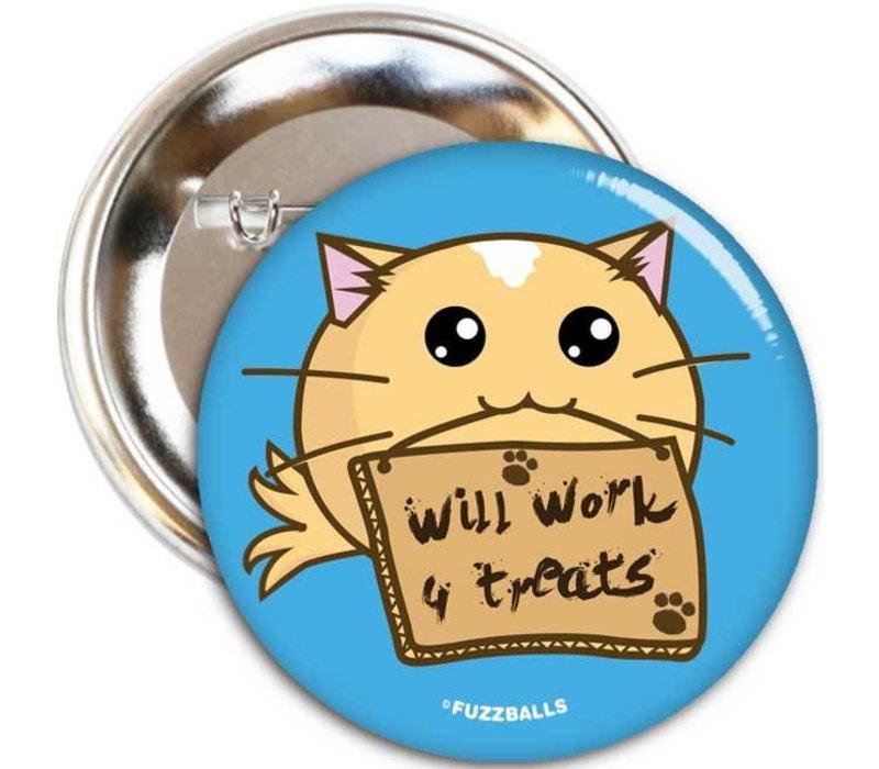 Fuzzballs Button - Will work for treats