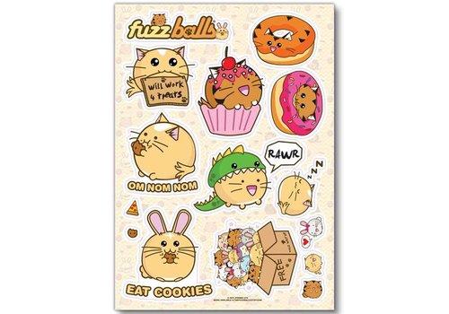 Fuzzballs Stickervel - Fuzzballs