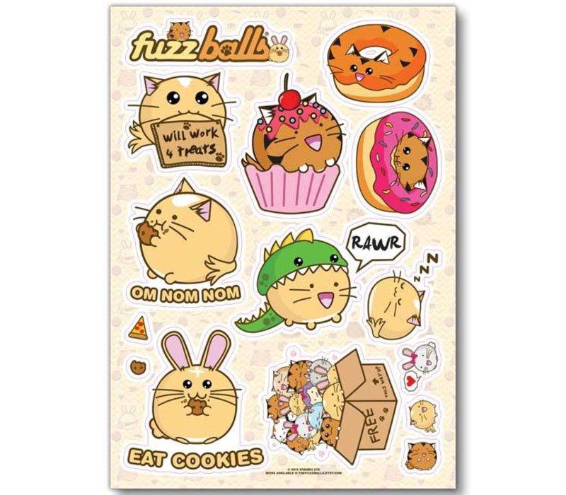 Fuzzballs Sticker sheet A6 - Fuzzballs