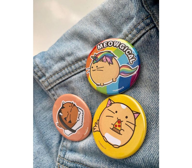 Fuzzballs Badge - Meowgical