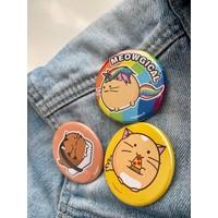 Fuzzballs Badge - Pizza cat