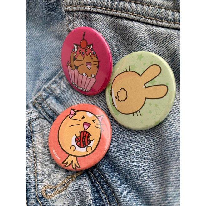 Fuzzballs Button - Bunny butt