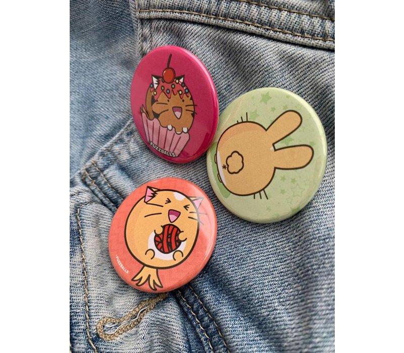 Fuzzballs Badge - Bunny butt