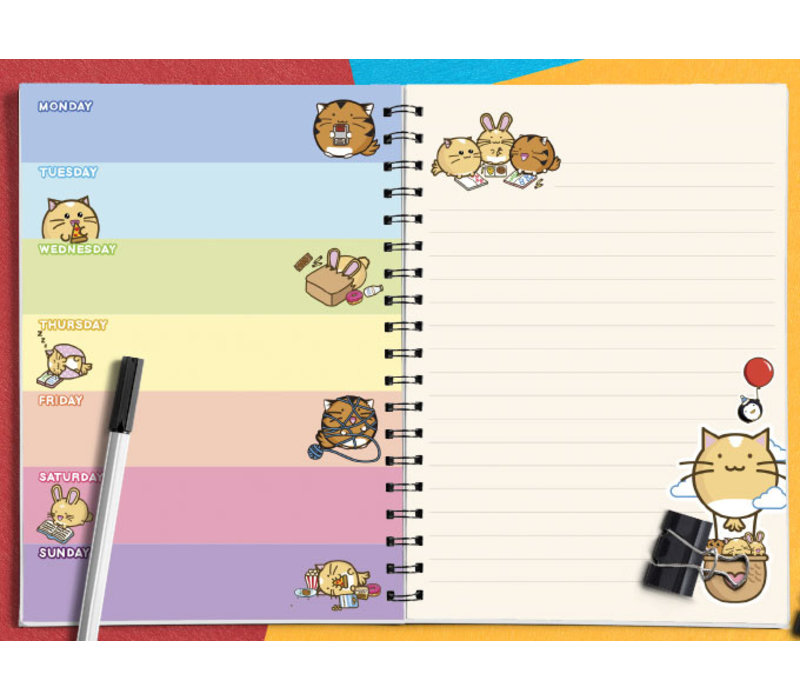 Fuzzballs planner - My week of poor choices