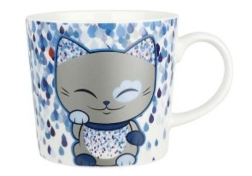 Mani the Lucky Cat  - Mug blue
