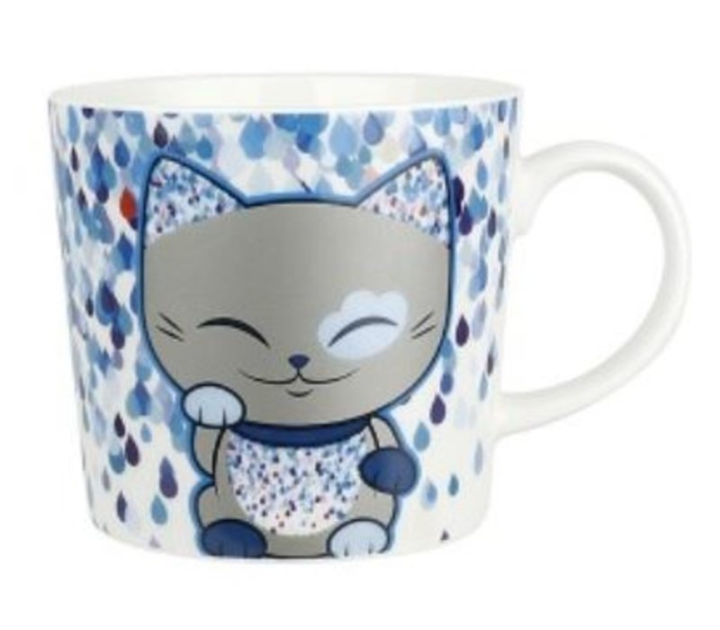 Mani the Lucky Cat  - Mug blue