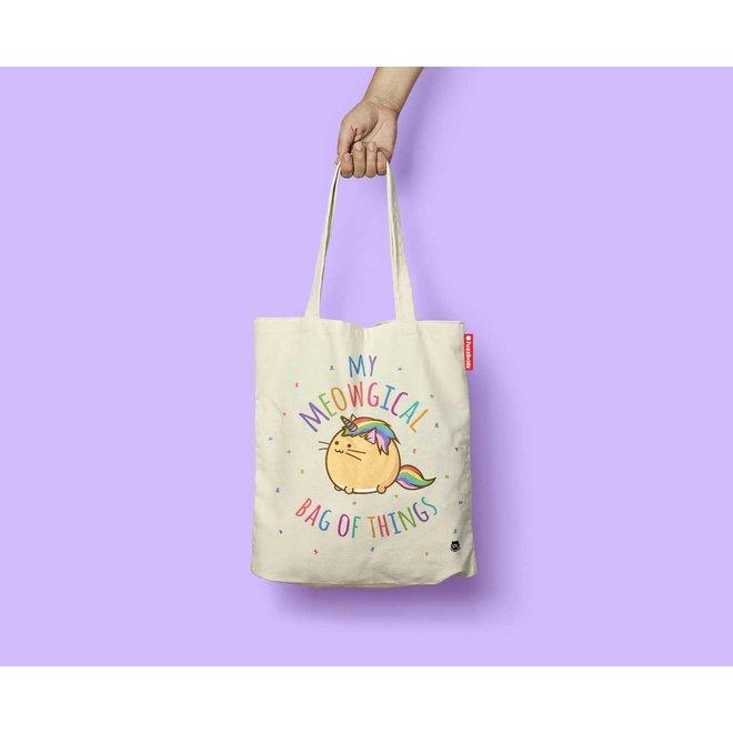 Fuzzballs Totebag - My meowgical bag of things