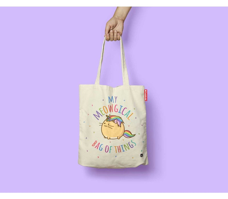 Fuzzballs Totebag - My meowgical bag of things