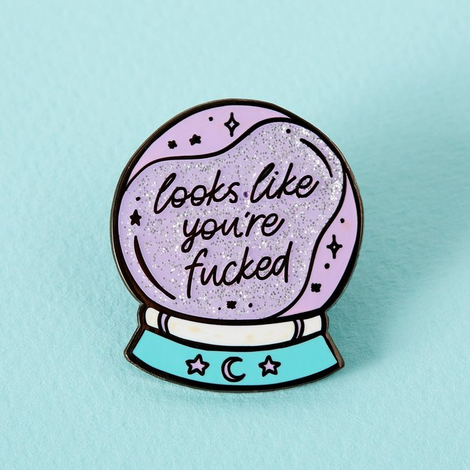 Punky Pins enamel Pin - You're fucked