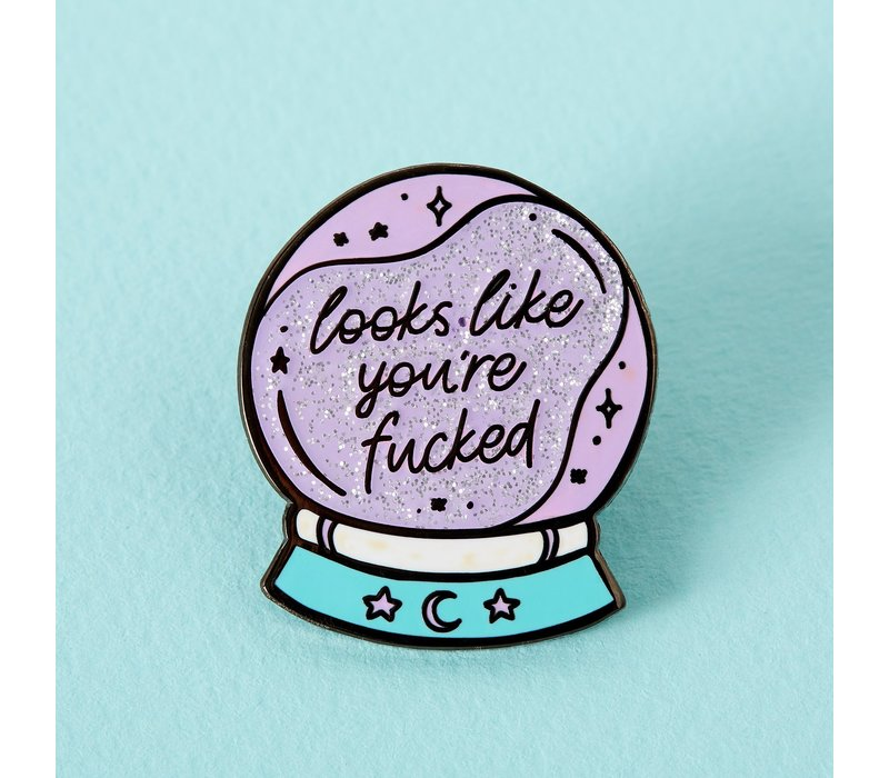 Punky Pins emaille Pin - You're fucked