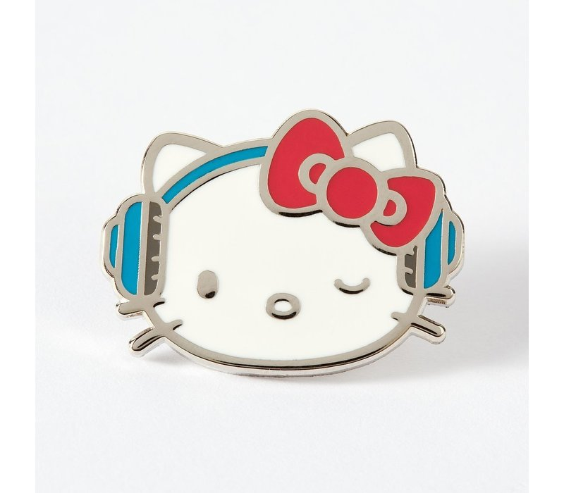 Punky Pins emaille Pin - Hello Kitty DJ