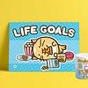 Fuzzballs Fuzzballs Print A4 - Life Goals