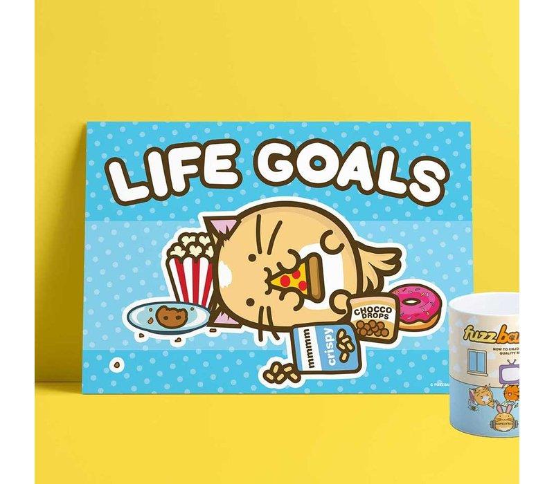 Fuzzballs Print A4 - Life Goals