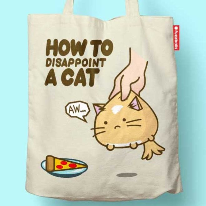 Fuzzballs Totebag - How to dissapoint a cat