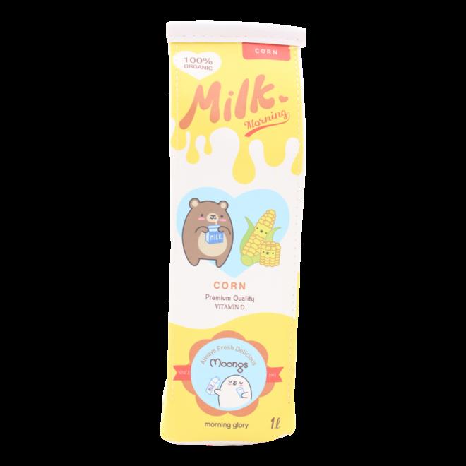 Moongs milk carton pencil case - corn