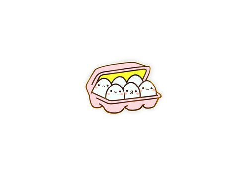 We Are Extinct Pin - Kawaii Eggs