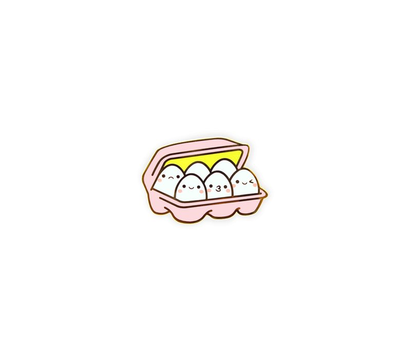 We Are Extinct emaille Pin - Kawaii Eggs