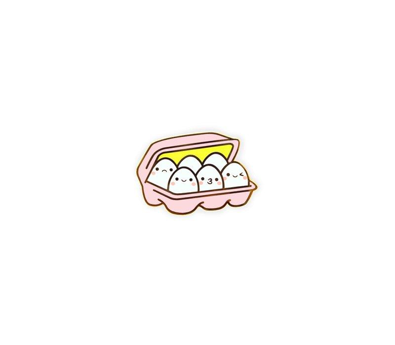 We Are Extinct enamel Pin - Kawaii Eggs