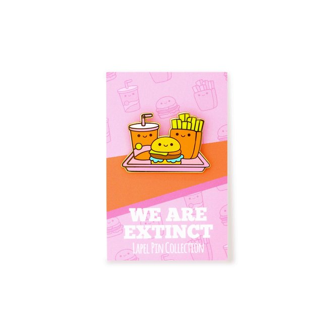 We Are Extinct emaille Pin - Fast Food Tray