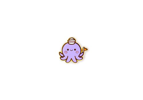 We Are Extinct Pin - Octopus