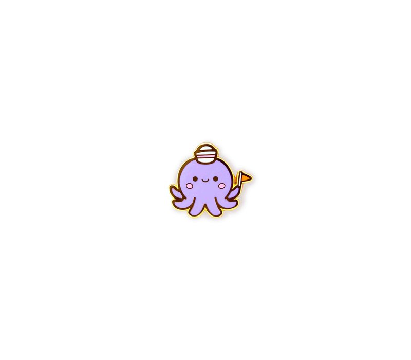 We Are Extinct enamel Pin - Octopus