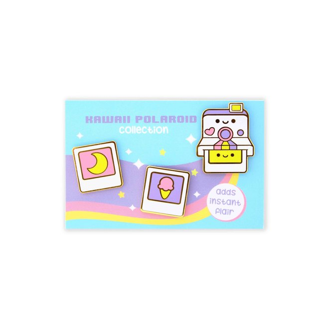 We Are Extinct emaille Pin - Polaroid Set