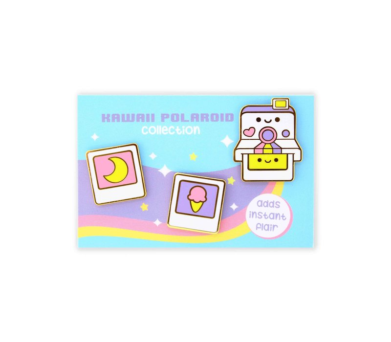We Are Extinct emaille Pin - Polaroid Set
