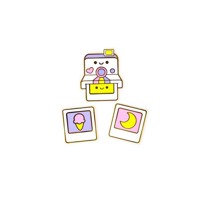 We Are Extinct enamel Pin - Polaroid Set