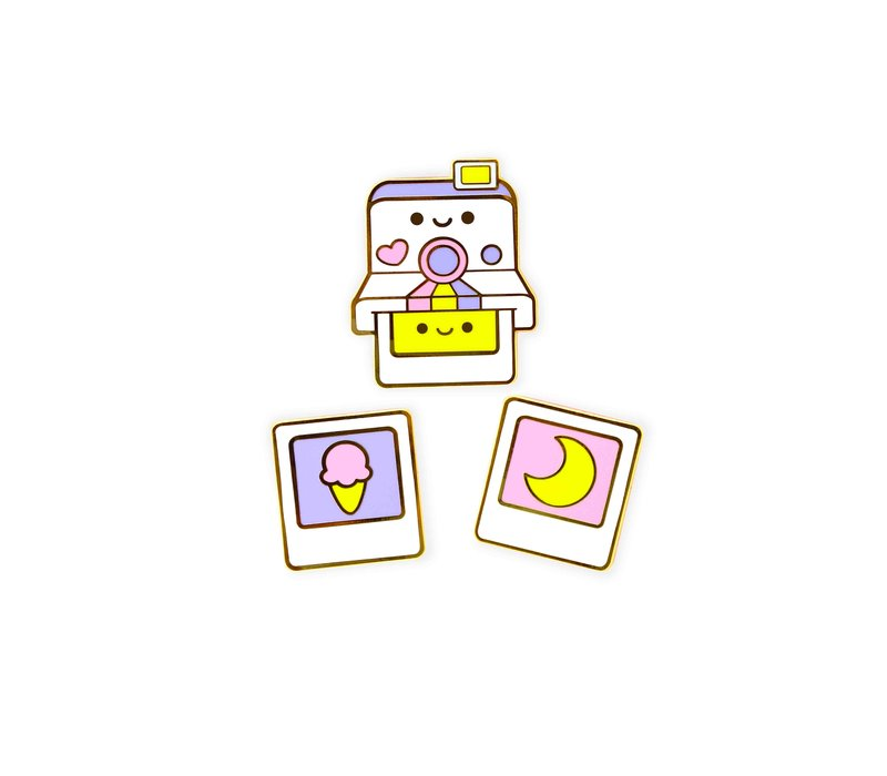 We Are Extinct enamel Pin - Polaroid Set