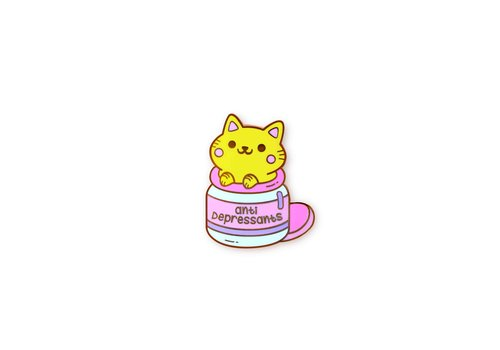 We Are Extinct Pin - Anti-Depressants Cat