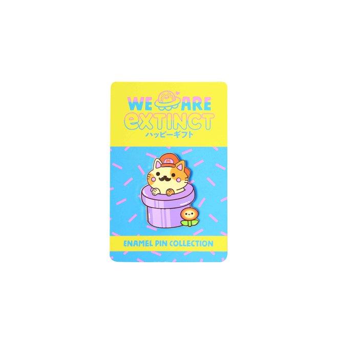 We Are Extinct emaille Pin - Super Mario Cat