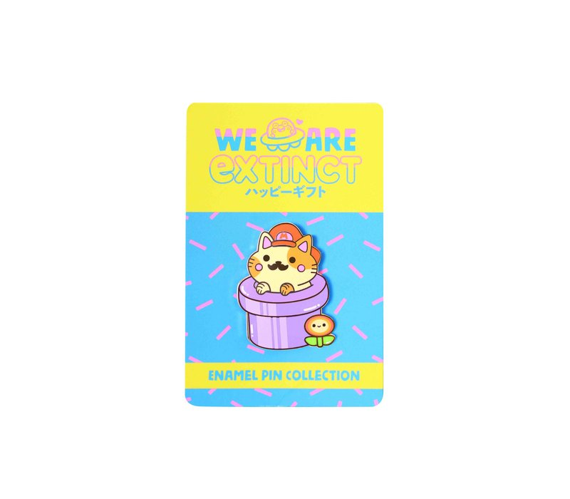 We Are Extinct enamel Pin - Super Mario Cat