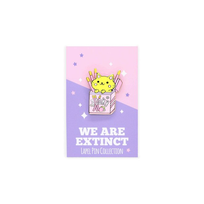 We Are Extinct enamel Pin - Pooky Cat