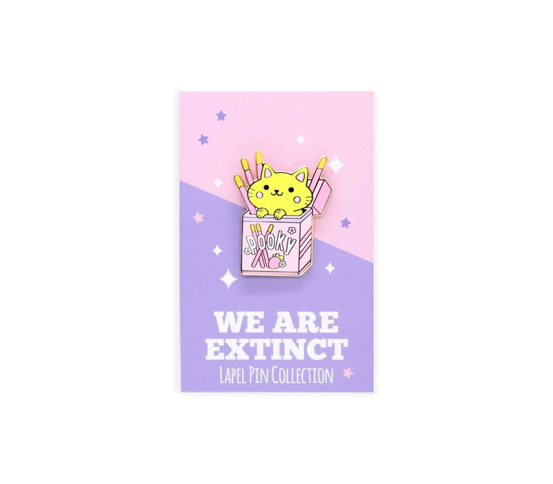 We Are Extinct enamel Pin - Pocky Cat