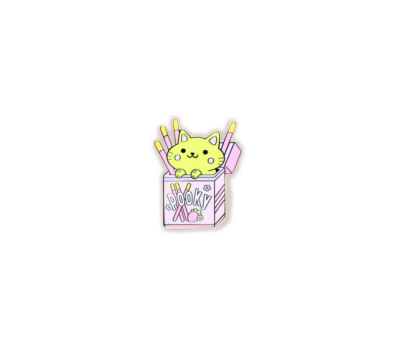 We Are Extinct emaille Pin - Pocky Cat