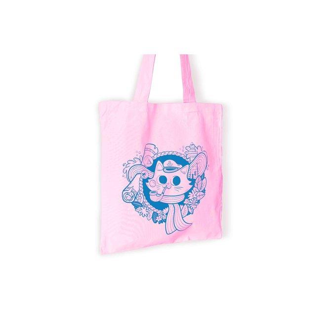 Totebag - Sailor Cat Pastel pink