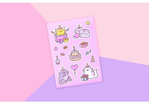 We Are Extinct Stickervel - Birthday Cats