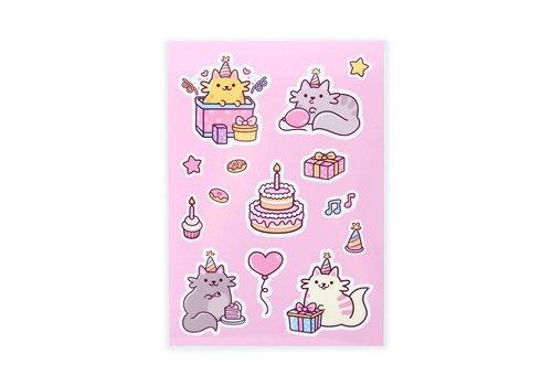 We Are Extinct Sticker sheet - Birthday Cats